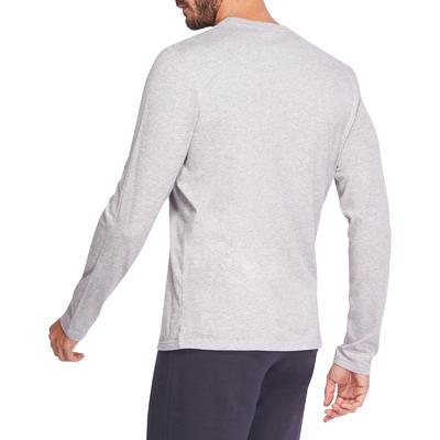 100 Long-Sleeved Gym & Pilates T-Shirt - Grey