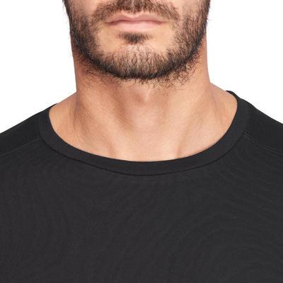 Camiseta de manga corta regular fitness hombre Active negro