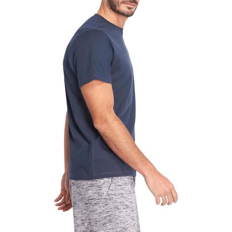 t -shirt 500 regular pilates gym douce homme bleu marine domyos by decathlon 8376548 1075203.jpg 3921ee5fff7