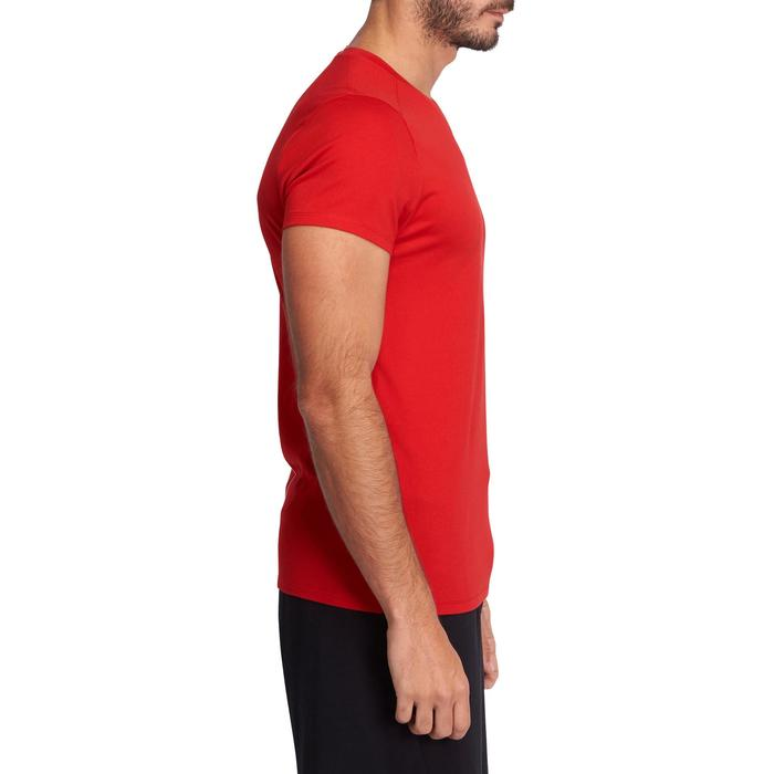 T-shirt 500 col V slim Gym Stretching homme - 1075213