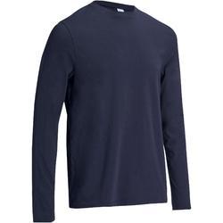 Langarmshirt Gym 100 Regular Herren Fitness marineblau