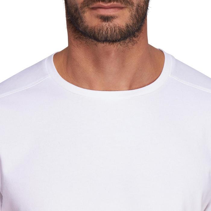 標準剪裁皮拉提斯與溫和健身T恤 - 白色