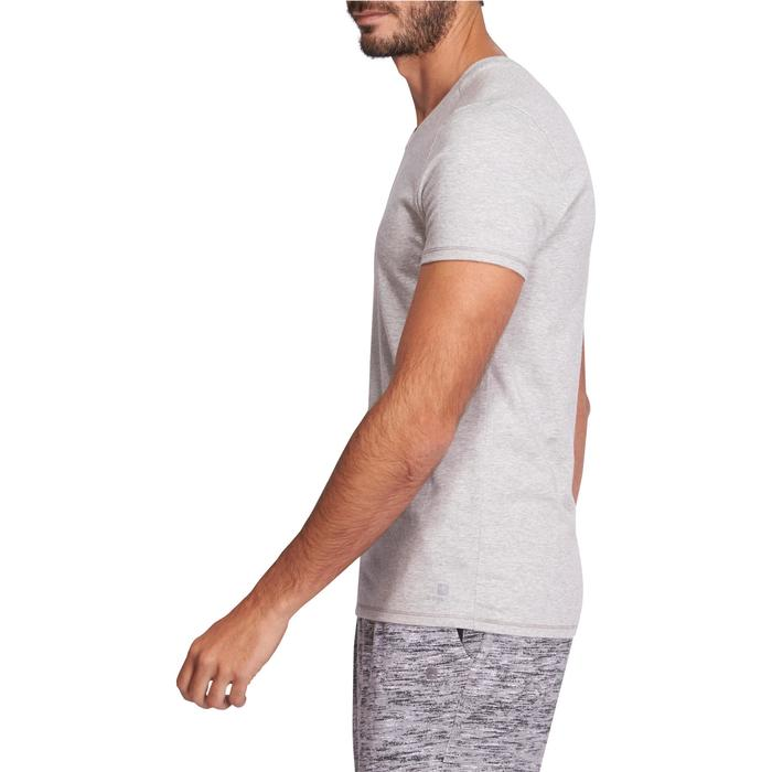 T-shirt 500 col V slim Gym Stretching homme - 1075270