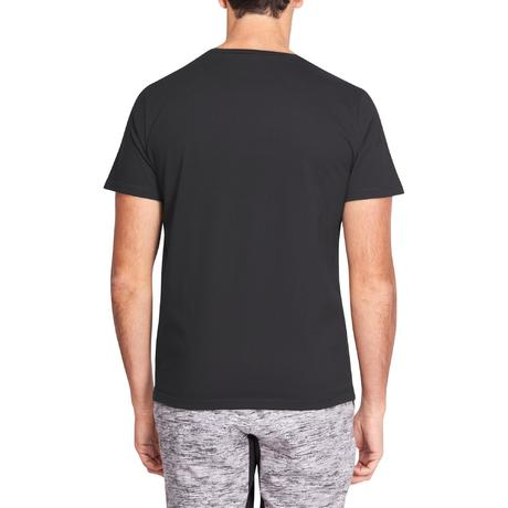 d0c1f4e14a8 T-shirt 500 regular Pilates Gym douce noir homme. Previous. Next