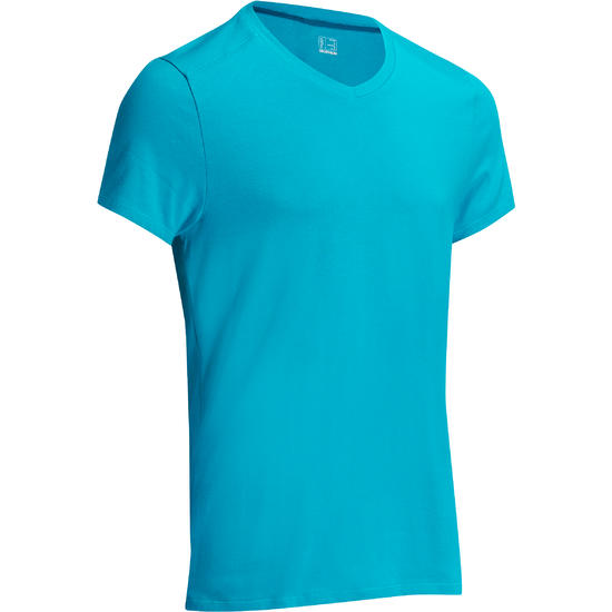 Heren T-shirt voor gym en pilates, slim fit - 1075281