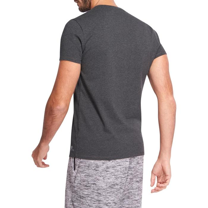 T-shirt 500 col V slim Gym Stretching homme - 1075325