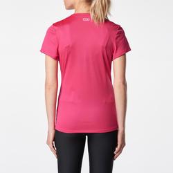 RUN DRY WOMEN'S RUNNING T-SHIRT - PINK