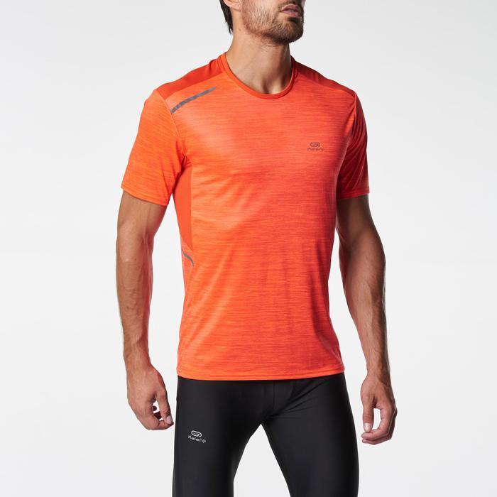 Heren T-shirt Run Dry+ voor hardlopen print oranje