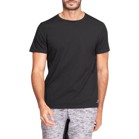 500 Regular-Fit Pilates & Gentle Gym T-Shirt - Black