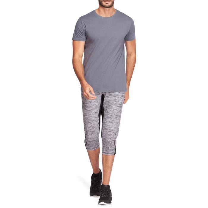 Camiseta de gimnasia y pilates Sportee hombre gris oscuro