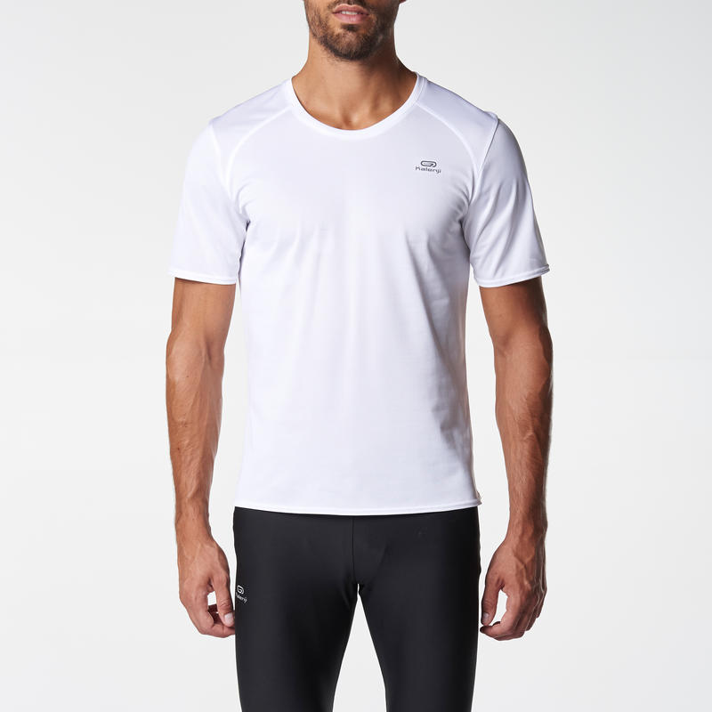 RUN DRY MEN'S RUNNING T-SHIRT WHITE