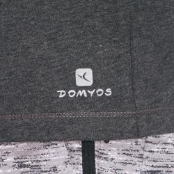 標準剪裁溫和健身與皮拉提斯T恤500 - 深灰色