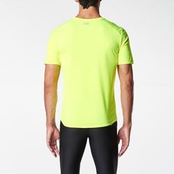 Camiseta Manga Corta Running Kalenji Run DRY Amarillo