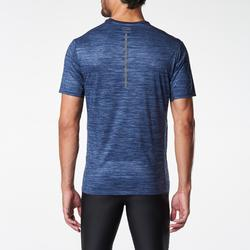 RUN DRY MEN'S RUNNING T-SHIRT BLUE PRINT