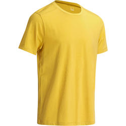 Regular-Fit Gym & Pilates T-Shirt - Mustard Yellow