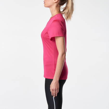 RUN DRY WOMEN'S RUNNING T-SHIRT - PINK