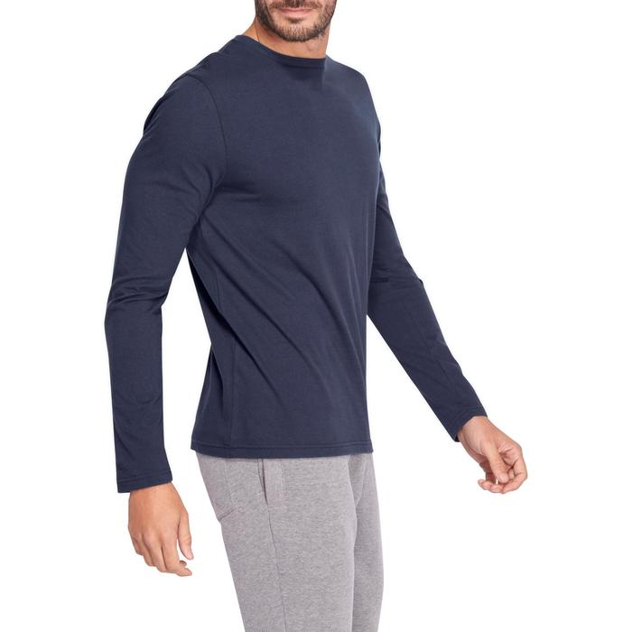 T-Shirt 120 manches longues regular Pilates Gym douce homme bleu marine