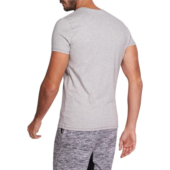 T-shirt 500 col V slim Gym Stretching homme - 1075463