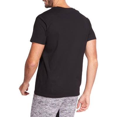 Fitness Pure Cotton T-Shirt Sportee - Black