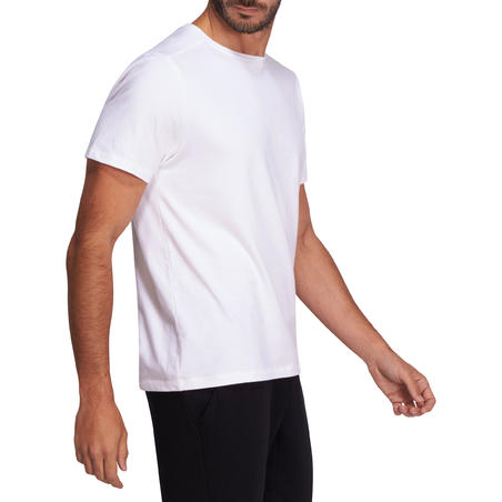 500 Regular-Fit Pilates & Gentle Gym T-Shirt - White