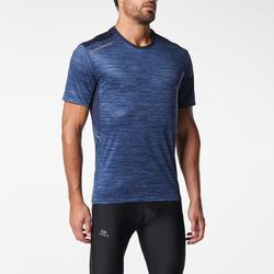 RUN DRY MEN'S RUNNING T-SHIRT BLUE PRINT