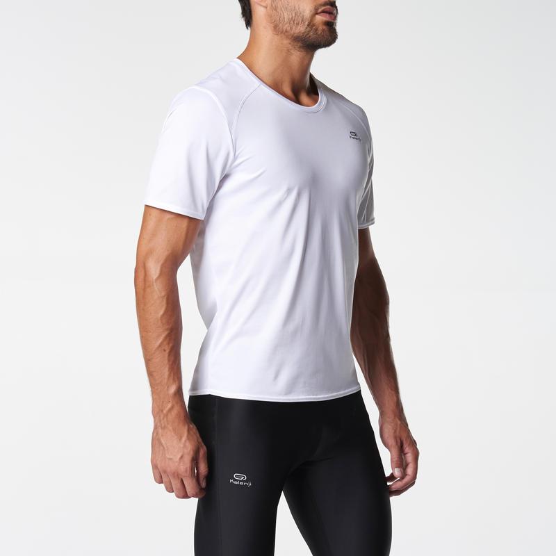 RUN DRY MEN'S RUNNING T-SHIRT WHITE
