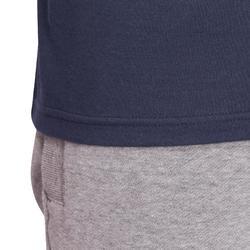 Camiseta Manga Larga Gimnasia y Pilates Domyos 100 Regular Hombre Azul Marino