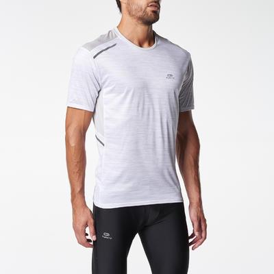 RUN DRY+ MEN'S RUNNING T-SHIRT WHITE PRINT