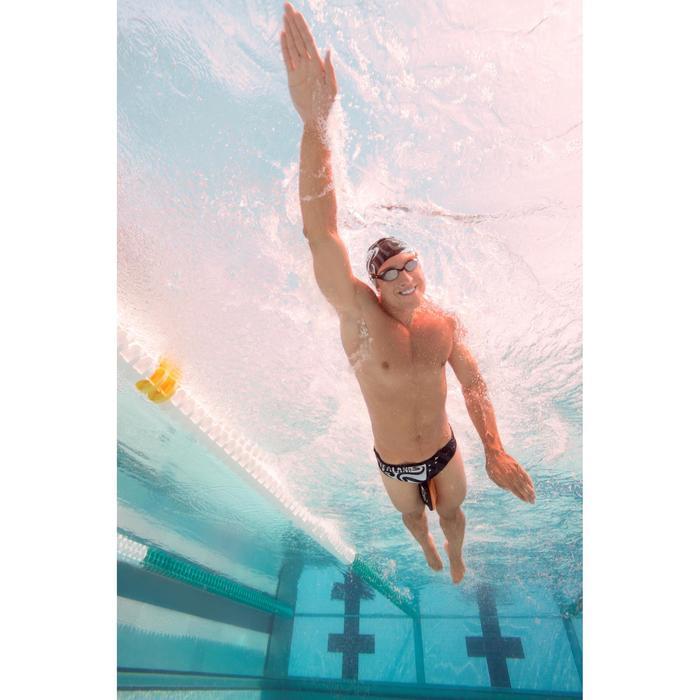 Lunettes de natation B-FIT noir argent miroir