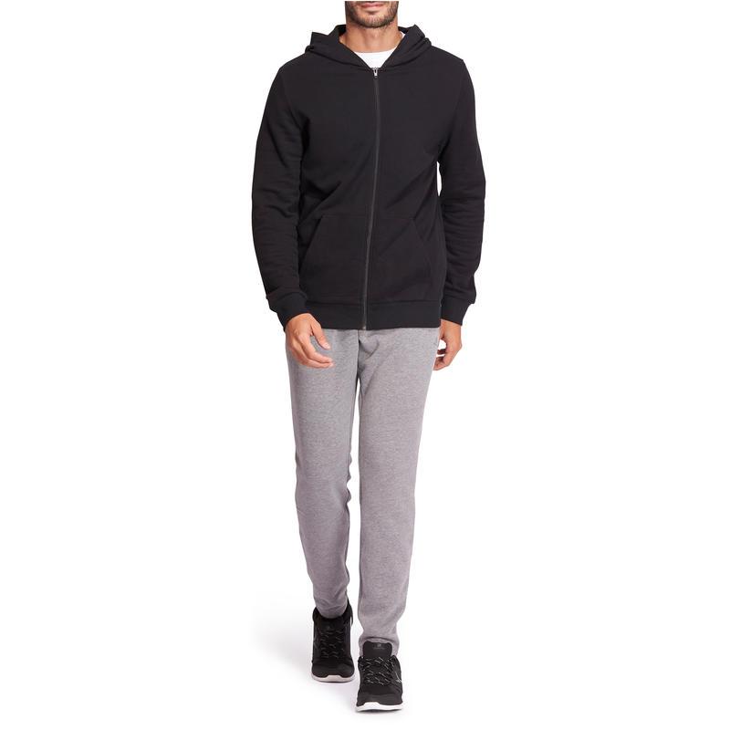 Hooded Gym & Pilates Sweatshirt - Black