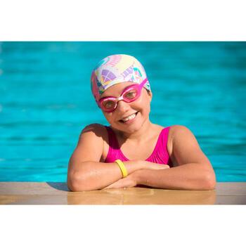 Lunettes de natation XBASE PRINT Taille S DYE rose bleu