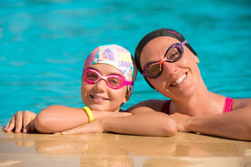 Lentes de natación XBASE PRINT Talla S DYE verde