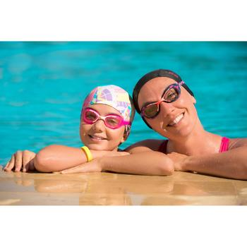 Zwembril 100 XBASE Print maat L OPI blauw/roze