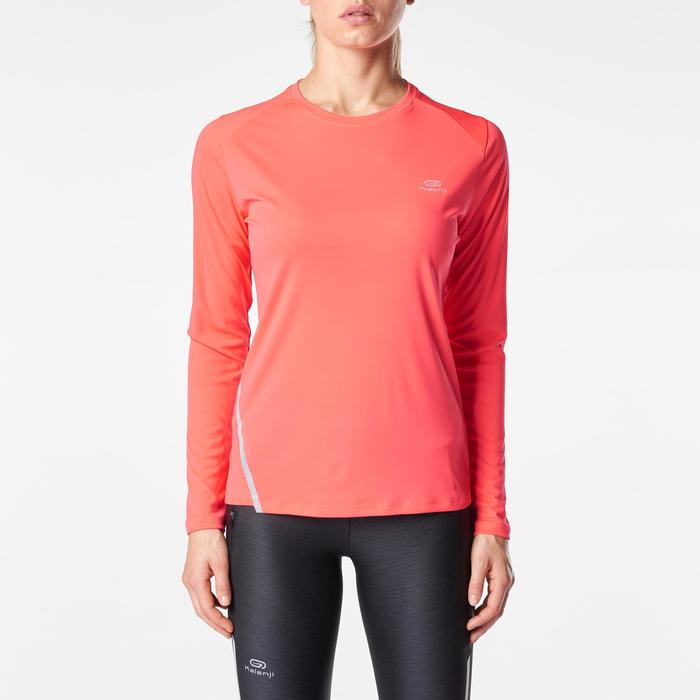 MAILLOT MANCHES LONGUES JOGGING FEMME RUN SUN PROTECT CORAIL