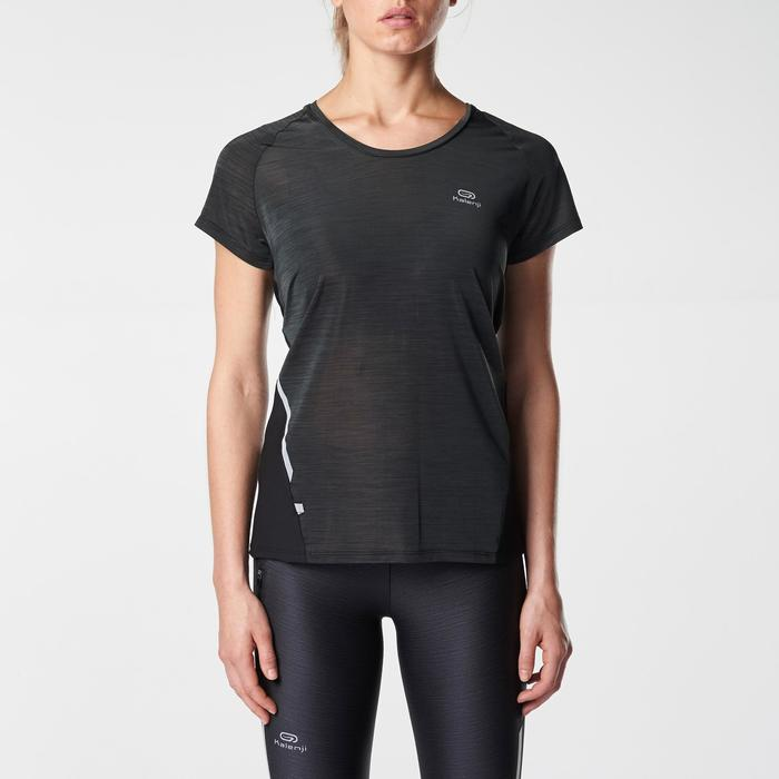 CAMISETA MANGA CORTARUNNING MUJER RUN LIGHT NEGRO