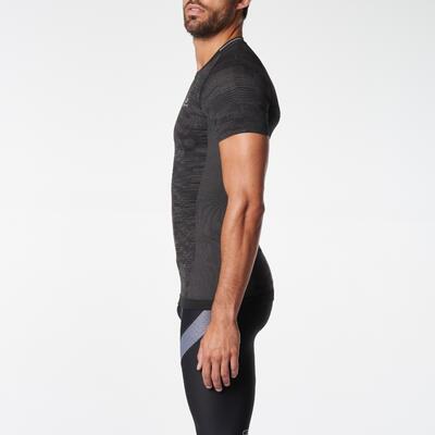 Чоловіча футболка для бігу Skincare Kiprun - Чорна