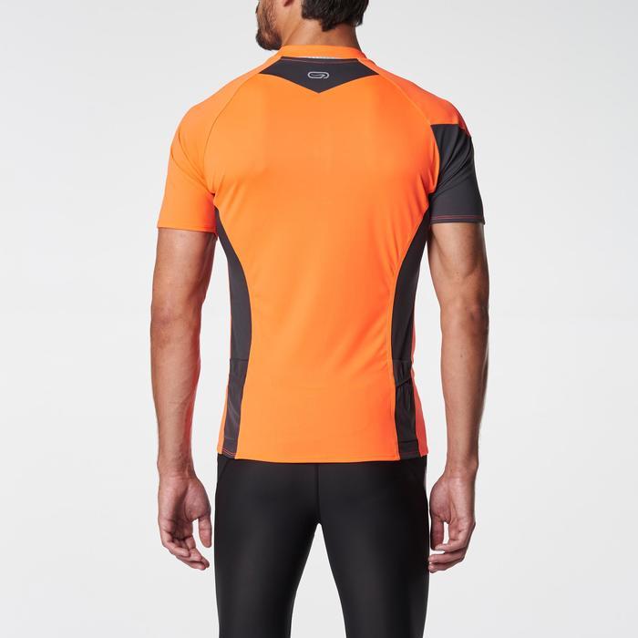 Tee shirt manches courtes trail running gris jaune homme - 1075839