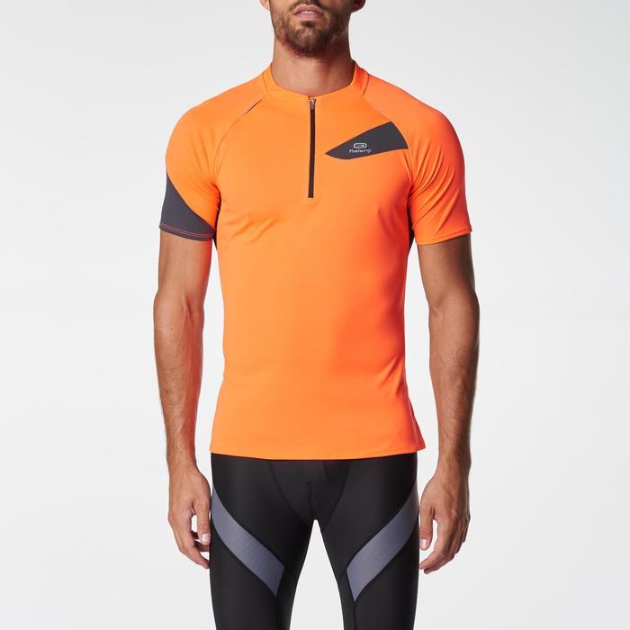 Tee shirt manches courtes trail running gris jaune homme - 1075850
