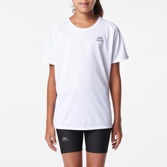 Camiseta de atletismo para niño run dry blanco