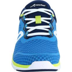 Herensneakers voor sportief wandelen Soft 540 mesh blauw / geel