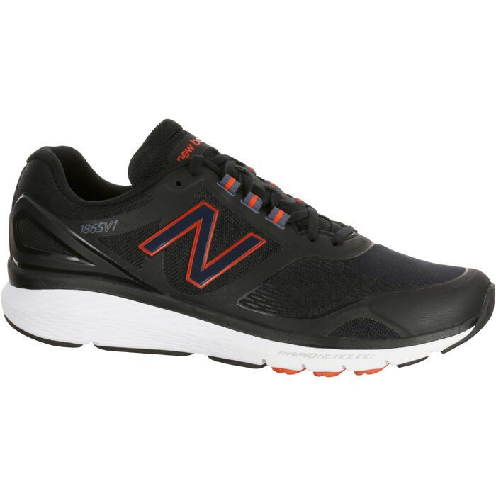 Chaussures marche sportive homme M1865 noir / rouge - 1075962