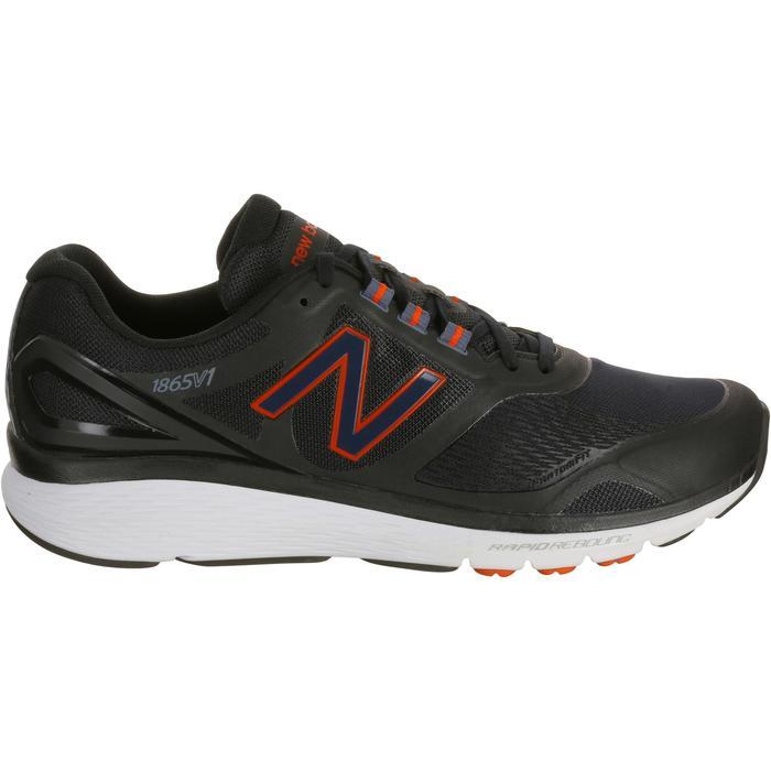 Chaussures marche sportive homme M1865 noir / rouge - 1075993
