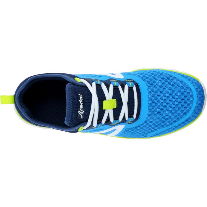 Walkingschuhe Soft 540 Mesh Herren blau/gelb