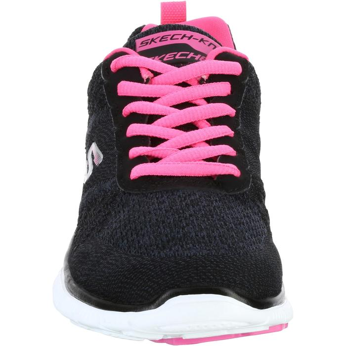 Chaussures marche sportive femme Flex SimplySweet noir / rose - 1076014
