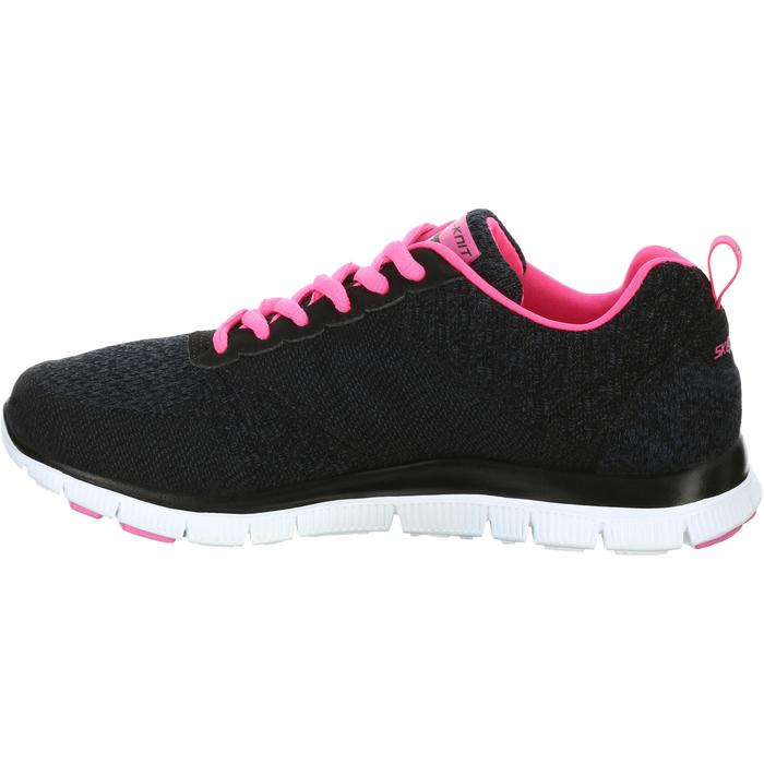 Chaussures marche sportive femme Flex SimplySweet noir / rose - 1076027