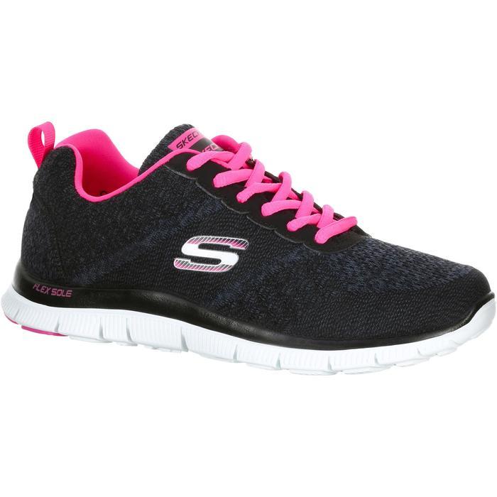 Chaussures marche sportive femme Flex SimplySweet noir / rose - 1076040