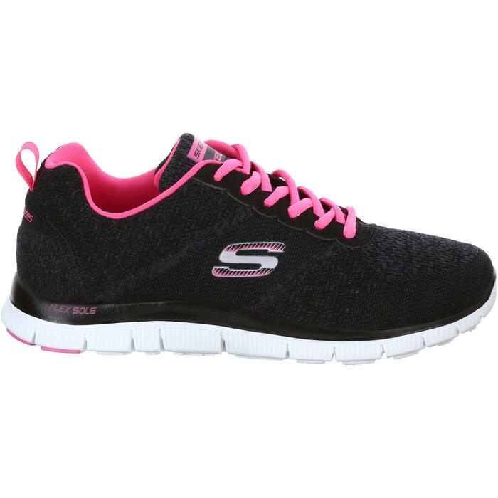 Chaussures marche sportive femme Flex SimplySweet noir / rose - 1076067