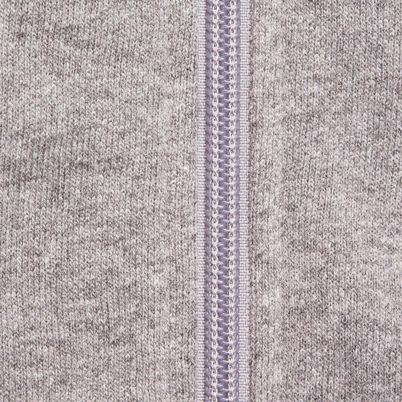 Hooded Gym & Pilates Sweatshirt - Mottled Grey