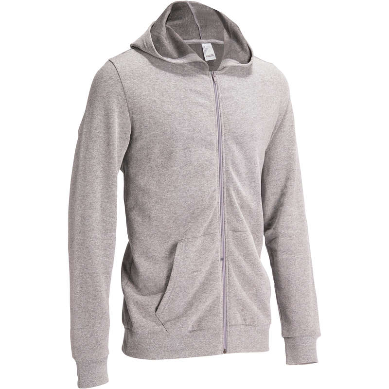 MAN GYM, PILATES COLD WEATHER APPAREL Clothing - Gym Hooded Jacket DOMYOS - Tops