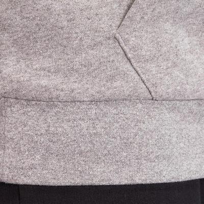 Men's Hooded Jacket 100 - Grey Marl